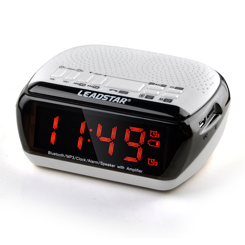 Portable Bluetooth Stereo Speaker LCD Digital FM Radio Dual Alarm Clock Bluetooth Stereo Speaker Support TF Card For iPhone PC(China (Mainland))