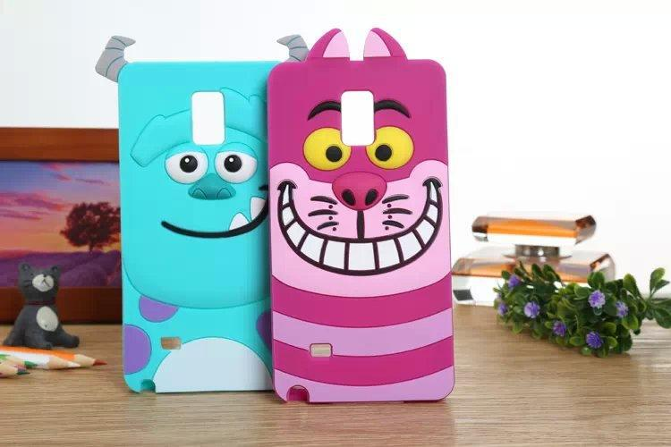 New Cute 3D Cartoon Monster university Sulley Marie Alice Cat slinky dog back Cover Soft Case Galaxy Note4