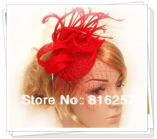 Free shipping 9color high quality sinamay fasinctor hats,nice bridal hair accessories/party hats/cocktail hats,FS58(China (Mainland))