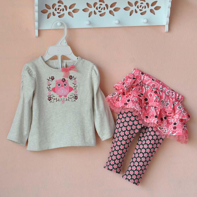 2015 Spring Fall Baby Girls Clothes Long Sleeve Bird