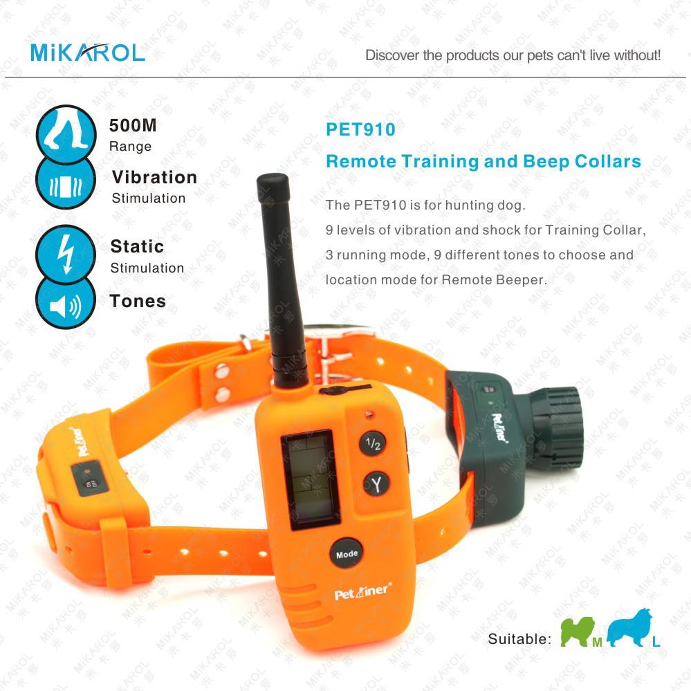 500M Deluxe Remote Dog Training and Beeper Collar with Rechargeable for Hunting Dogs(China (Mainland))