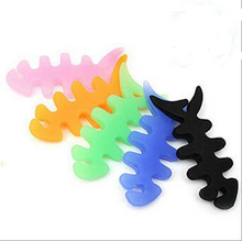 Silicone Earphone Cable Winder Earphone Headphone Headset Data Cable Organizer Fish Bone Shape Cable Clip