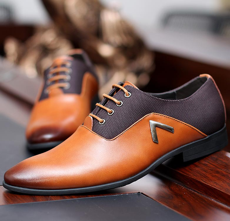 size 38 44 new mens oxford shoes 2015 pu leather solid