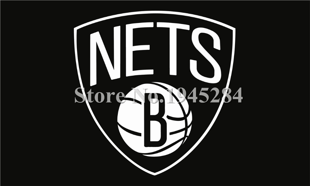 Brooklyn Nets Flag Size 3x5feet 90x150cm New 100D Polyester Team Flag Banner 1086, free shipping(China (Mainland))