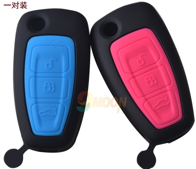 2012 2013 Ford Focus Silicone car key cover remote cover for focus 3 Fiesta Focus Mondeo Ecosport Kuga Escape(China (Mainland))