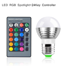 1Pcs Lovely 16 Colors Changeable RGB LED Spotlight Bulb 85V- 265V With IR Remote Controller Holiday Lamp Decorative Night light(China (Mainland))