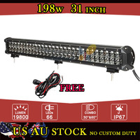 198W 31 Inch LED Light Bar for PHILIPS LED Chips Super Bright Offroad Spot Flood Beam for Jeep Ford 4x4 ATV 4WD Truck 12V 24V