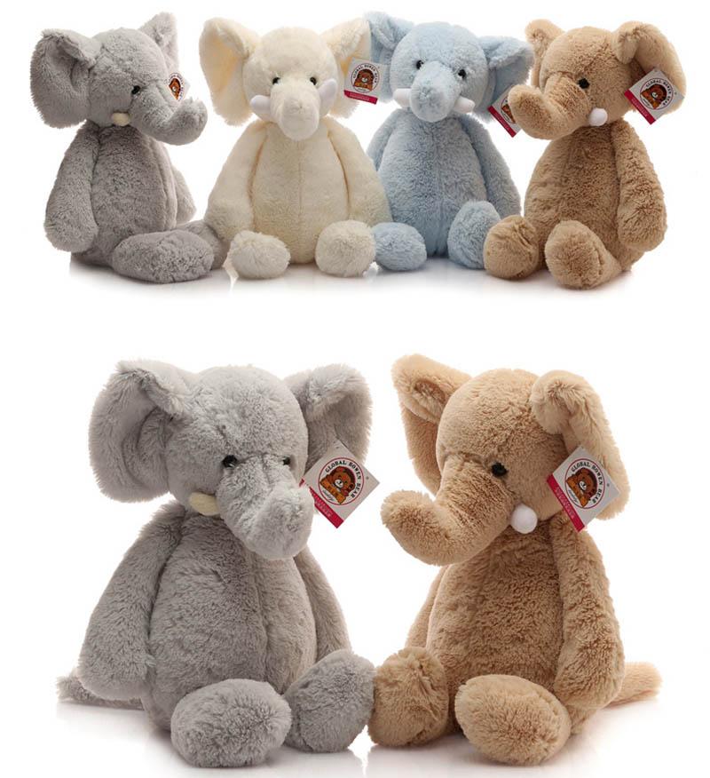 40cm Plush Toys Soft Cute Elephant Stuffed Animal Toy Baby Sleeping Doll(China (Mainland))