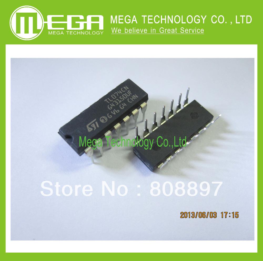 Интегральная микросхема 10 TL074CN dip/14 TL074 JFET