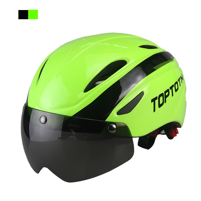 TOPTOTN Cycling Helmet Bicycle Helmet with Cycling Glasses Ultralight Integrally-molded Road Mountain Bike Helmet(China (Mainland))
