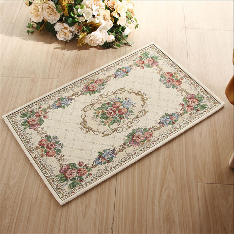European pastoral style slip resistant rugs and carpets Machine washable rugs for living room