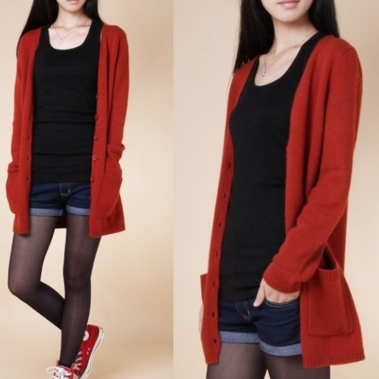 Spring Women's Clothing 100% Pure Cashmere Cardigan V-neck Cashmere Sweater Jackets FREE SHIPPING Cardigans girl
