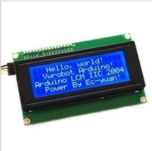 MK00270   IIC/I2C 2004 LCD2004 blue screen LCD module provides a library file(China (Mainland))
