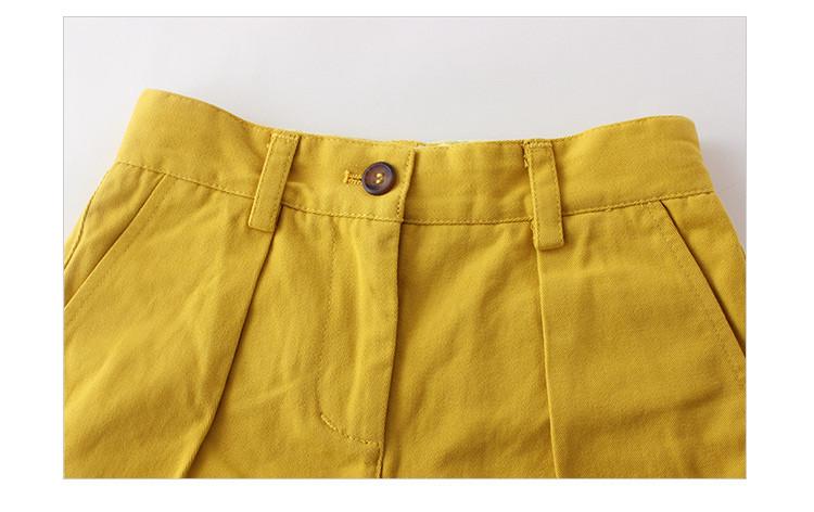cute girls yellow shorts