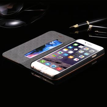 Etui portfel do iPhone 6 6S skóra PU i drewno bambusowe różne kolory