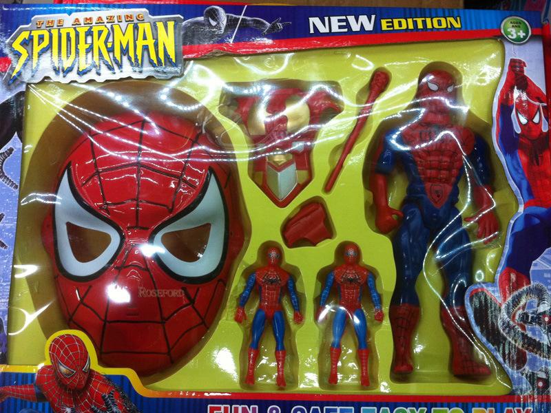 White spiderman action figure