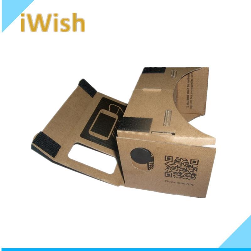 "Hot selling DIY Google Cardboard VR Mobile Phone 3D Glasses For 5.0"" Screen Google VR 3D Glass(China (Mainland))"
