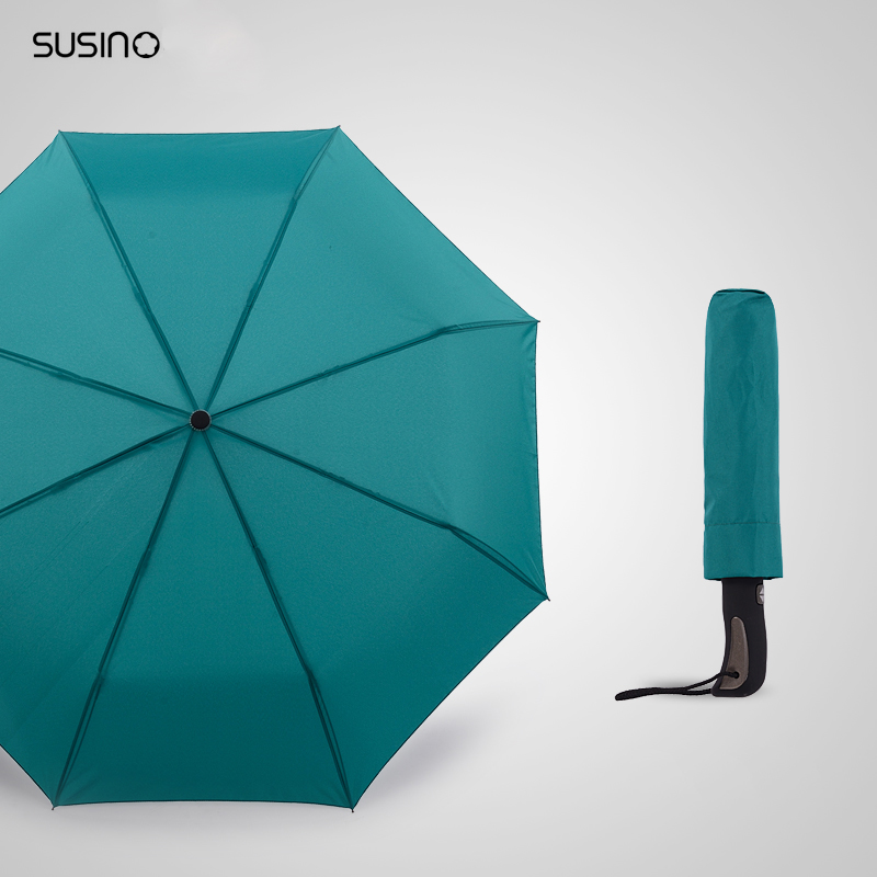 Susino Windproof Umbrellas Fully-automatic Open Sturty Metal Pongee Compact Durability Formosa Cloth Umbrella S3511pm(China (Mainland))