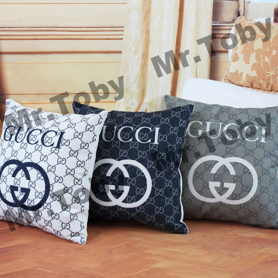 European fashion Brand elements Linen cushion case pillow cover Wedding decoration Home throw creative printed car sofa bed case(China (Mainland))