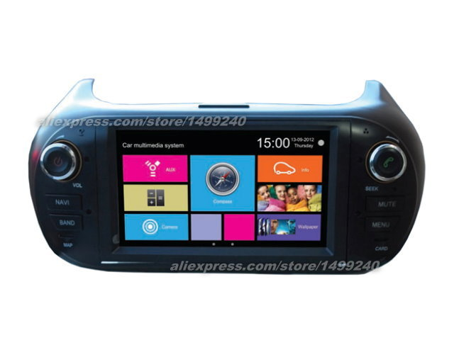 For Fiat Qubo 2007~2013 - Car Stereo Radio DVD Player GPS Navigation 1080P Touch Screen W8 Multimedia System(China (Mainland))