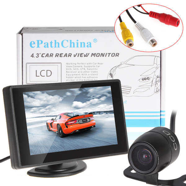"hot Car Parking Kit With 4.3"" Color TFT LCD Display Car Monitor Support 480 x 272 Resolution + Waterproof Rear View Car Camera(China (Mainland))"