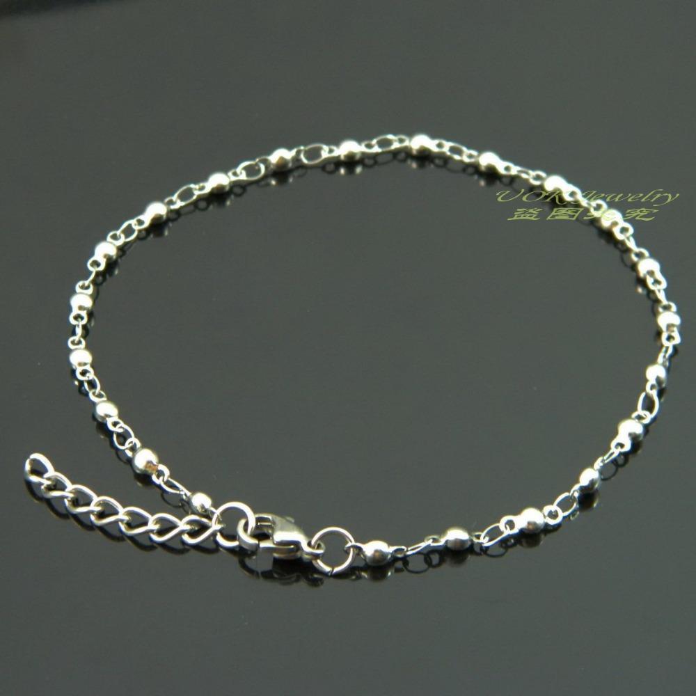 bracelet 3mm solid bead chain bracelet fashion
