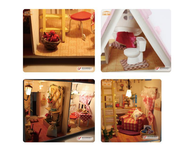 Diy Miniature Wooden Doll Doll House Furniture Kits