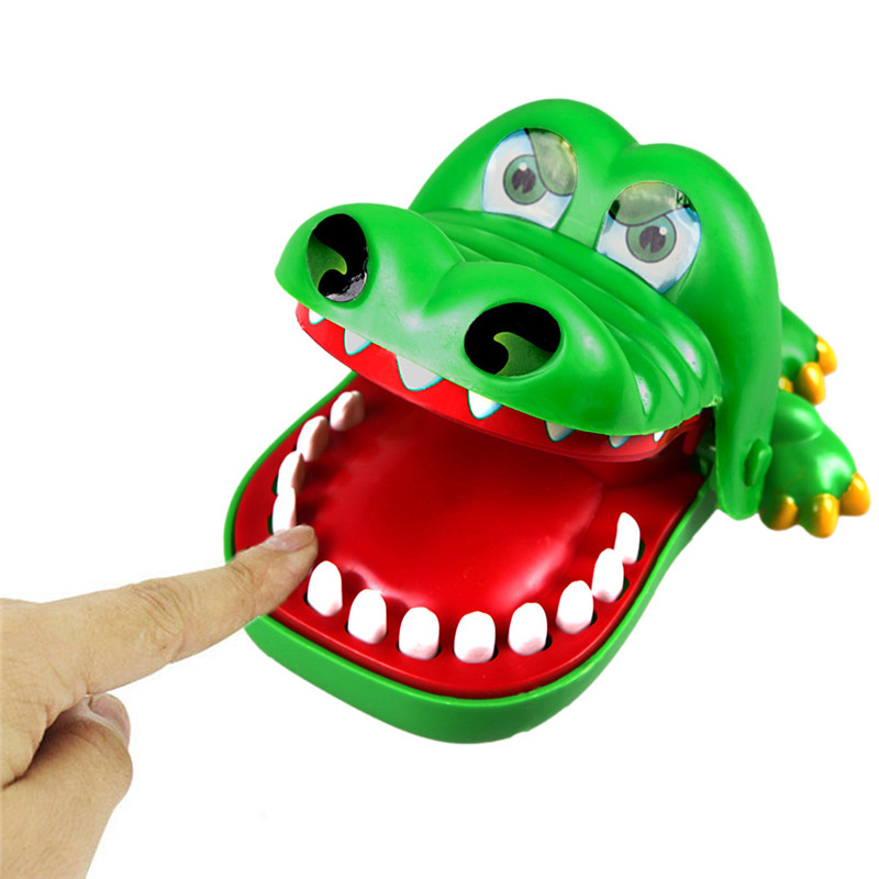 Large Crocodile Mouth Dentist Bite Finger Game Funny Toy Gift ,Funny Gags Toy Novetly Toys For Kids Gift(China (Mainland))