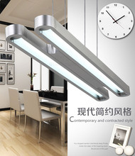 Double tube office pendant lamp 90-120cm industrial commercial lighting T5 fluorescent LED library reading light free shipping(China (Mainland))