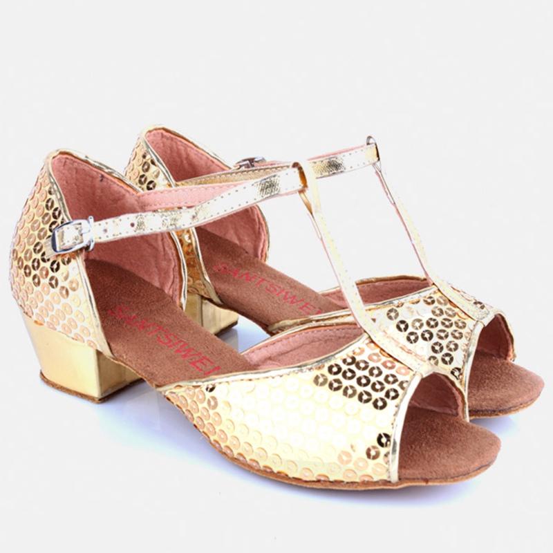 Popular Girls Latin Dance Shoes Summer Sandals Children Sequin Ballroom Dancing Shoes Kids Jazz Salsa Waltz Tango Shoes(China (Mainland))