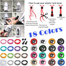 A Pair Of Locking Shoe Laces Elastic Lock Shoelaces Shoestrings Running/Jogging/Triathlon/Sports Fitness 16 colors 1.2 M(China (Mainland))
