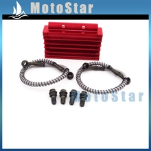 Aluminum Red Oil Cooler For Chinese Pit Dirt Bike Motorcycle 125cc 140cc 150cc Lifan YX Zongshen BSE Kayo CRF50 Thumpstar(China (Mainland))