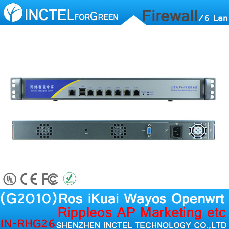 Customized Internet router manufacturers ROS 6 Gigabit flow control cisco asa firewall with G2010 processor H61 Express chipset(China (Mainland))