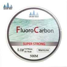 2015 new Available 500M Fluorocarbon Fishing Line 0.148-0.467mm  7-42LB Carbon Fiber Leader Line brand fly fishing line pesca
