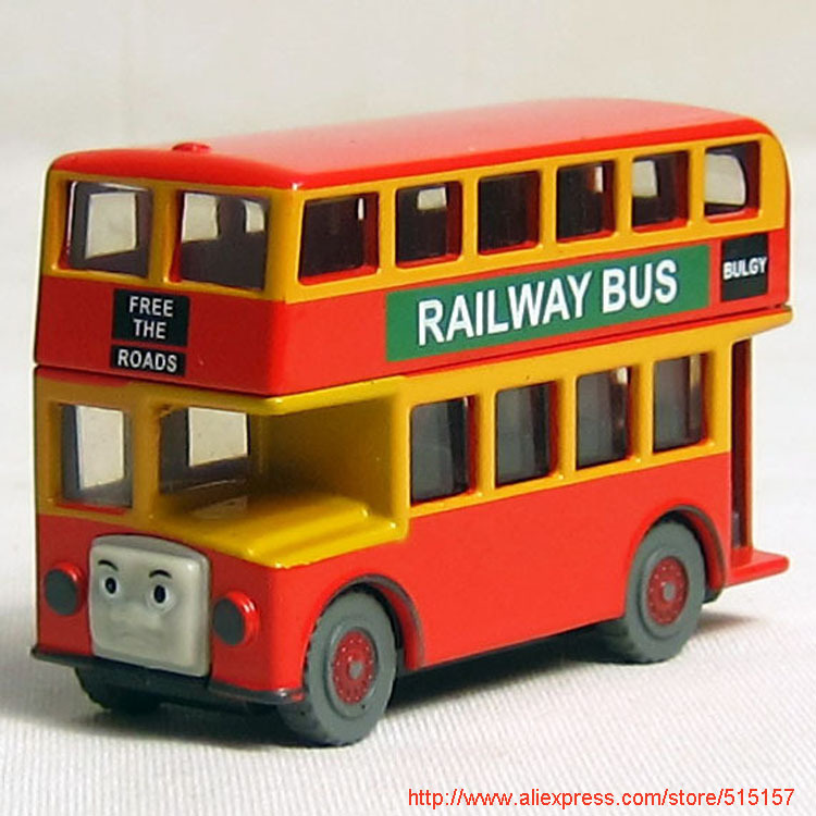 Diecast THOMAS and friend Bulgy The Tank Engine take along train toy school double decker bus buses(China (Mainland))
