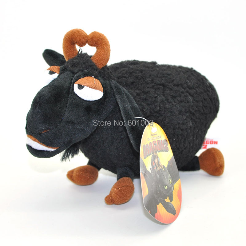 "Free Shipping How To Train Your Dragon Toothless Black Sheep Plush Toy Doll 8""(China (Mainland))"