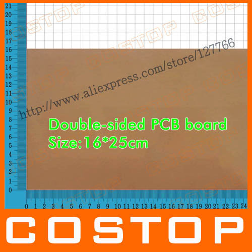 16cm*25cm Blank Glass Fiber FR4 Double-sided Copper Clad Plate Laminate Universal PCB Circuit Board Sheet(China (Mainland))