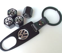 Freeshipping Metal Emblem Logo Wheel Tyre Tire Valve Stem Air Dust Cover Caps 4pcs caps + 1 wrench For Golf GTI.etc(China (Mainland))