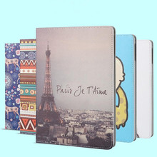 New Fashion Smart Case For iPad Air2 PU Leather Protetcive Case Cover Fashion Ultra Slim Colored Drawing For iPad2 3 4(China (Mainland))
