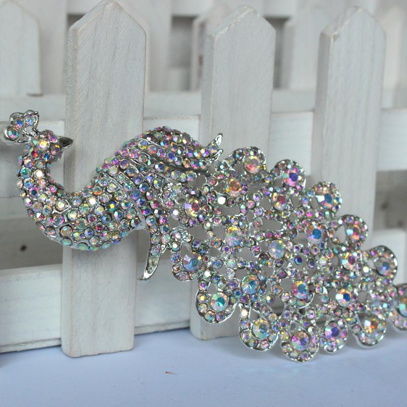 silver rhinestone brooch bouquet big brooches hijab pins and crystal rhinestone brooches wedding gift woman fashion  party 09014<br><br>Aliexpress
