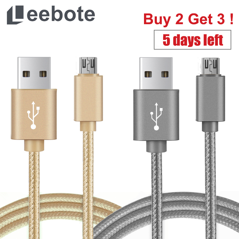 Leebote Nylon Braided Fast Charging Micro USB Cable 5V 2.4A 1m 2m 3m Usb data Cable for iPhone 6 6S 5S and Samsung HTC Xiaomi(China (Mainland))