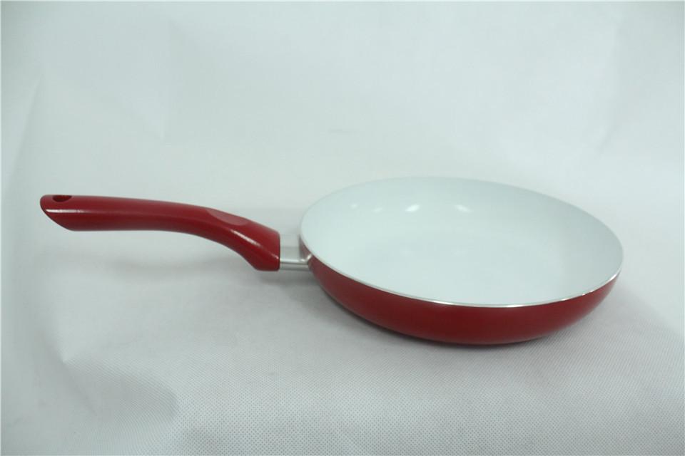 24 cm nonstick frying pan saucepan pots no lampblack aluminum alloy ceramic coating pan skillet hot sale(China (Mainland))