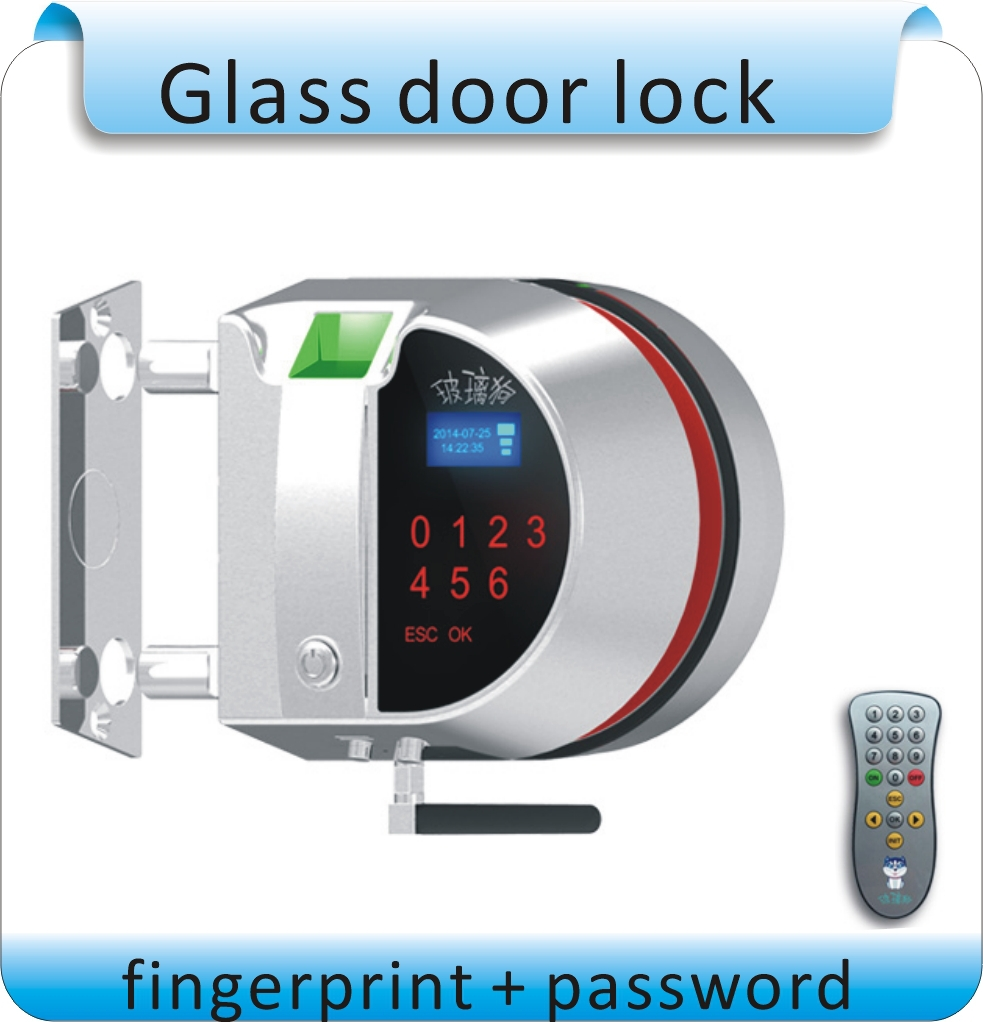 Free shpping DIY Fingerprint+password  access control system /glass door lock /  electronic locks /high quality Free open hole <br><br>Aliexpress