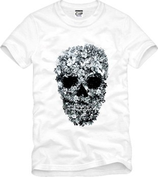 tide personality kris skull fashion Printed Men's T-Shirt T Shirt For Men 2015 New Short Sleeve O Neck Cotton Casual Top Tee(China (Mainland))