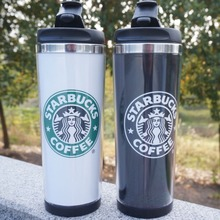2015 Double Wall Coffee Mug for 1PCS 14oz Insulated Tumbler Travel Cups white black