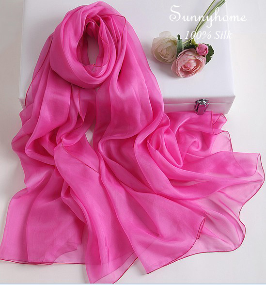 Foulard hijab 2016 Rose Red pashmina shawl Silk Scarf Wholesale Cachecol Feminino Summer Scarfs Women Solid Soft Thin Scarves(China (Mainland))