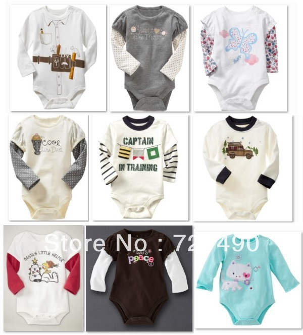 Baby Boys Girls cotton Clothes   Baby Rompers Kids Pajamas Newborn baby Long Sleeve Baby Bodysuits  B21<br><br>Aliexpress