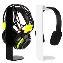 Acrylic Earphone Headset Holder Headphone Stand  Desk Display C-Shape Stand  2Color(China (Mainland))