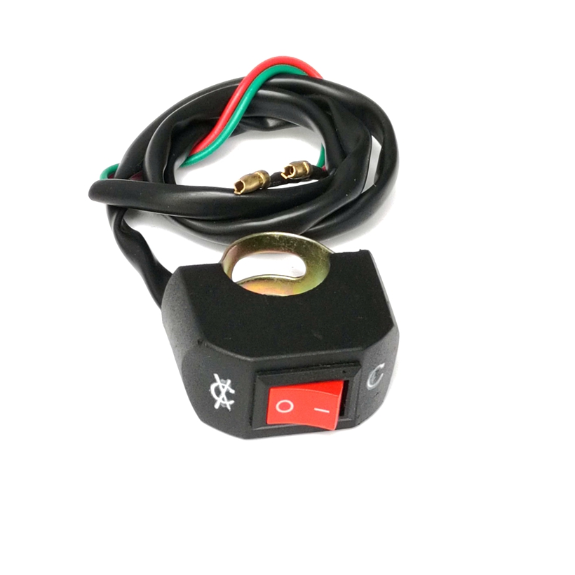 "Motorcycle Handlebar Headlight Switch E-Bike 2.2cm Bar ON/OFF ATV Headlamp Switch For 7/8"" Handle ATV/Scooter/Moped/Motocross(China (Mainland))"