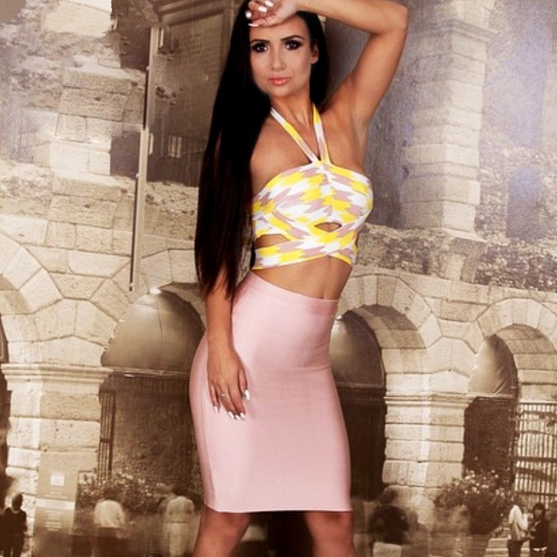 HEGO-2015-Women-New-Hot-Print-Fashion-Halter-Bandage-Dress-Free-Shipping-With-Factory-Direct-H1234